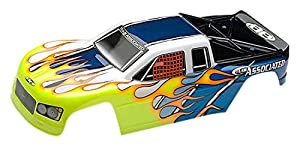 Team Associated MGT-Shop 3.0Body, Printed, Yellow, Blue, White