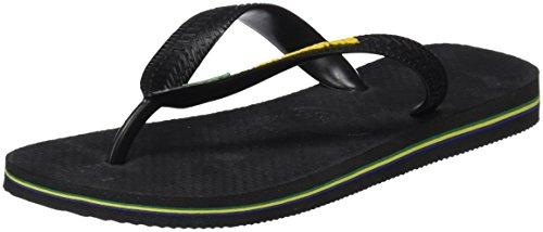 Havaianas Flip Flops Brasil Logo Zehentrener für Kinder, BRASIL LOGO BLACK, 27/28 EU (25/26 Brazilian)