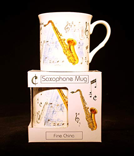 Fine China Mug - Saxophone Design -