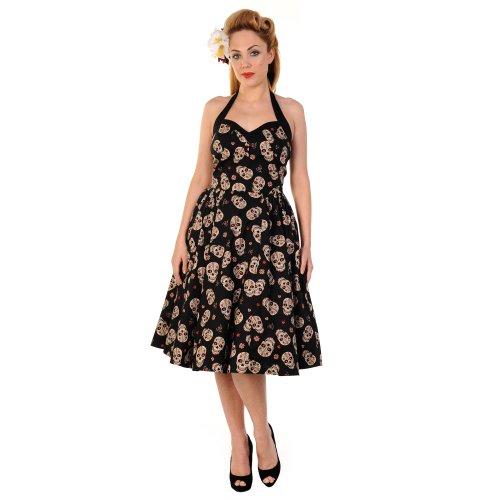 Banned Kleid SUGAR SKULL 591 black Schwarz