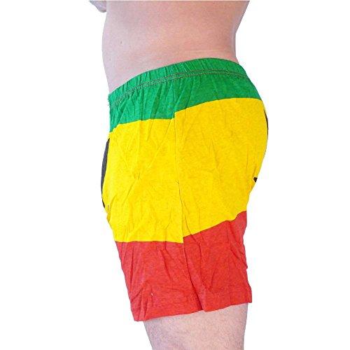 HERREN BOXERSHORTS l Unterhosen Shorts Slips l Rockabilly Totenkopf Marihuana l in 4 FARBEN l 100% Baumwolle l S M L XL XXL 11081-078