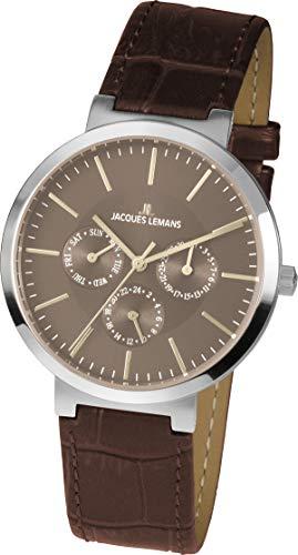 Jacques Lemans Reloj Cronógrafo para Unisex Adultos de Cuarzo con Correa en Cuero 1-1950E