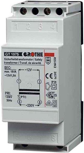 Grothe 1512019 Klingel Transformator 12 V AC, 1,5 A, GT 1975