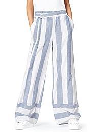 FIND Damen Weite Streifen-Hose