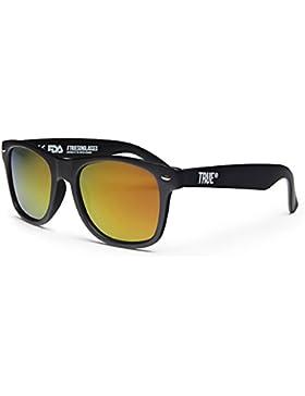 TRUE VISION Unisex Verspiegelte Polarisierte Sonnenbrille Wayfarer Stil UV400