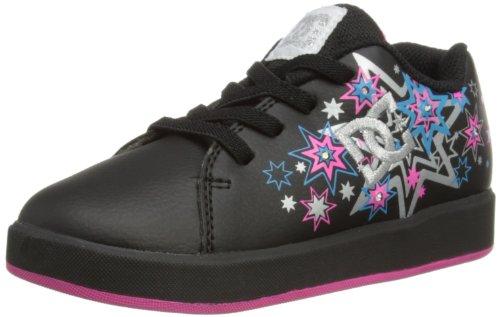 DC Shoes  Phos T Shoe, Basses garçon Noir - Black/Metal Silver/Pink
