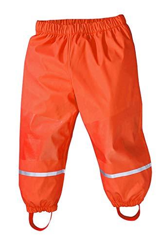 Axoe Kinder Regenhosen Winter Hosen mit Fleecefutter Buddelhose Matschose, Orange, 98/104 cm
