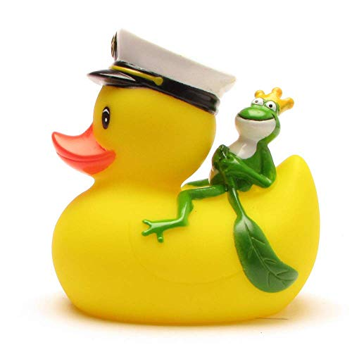 Duckshop I Badeente I Quietscheente I Kapitän Ente mit Froschkönig - 2