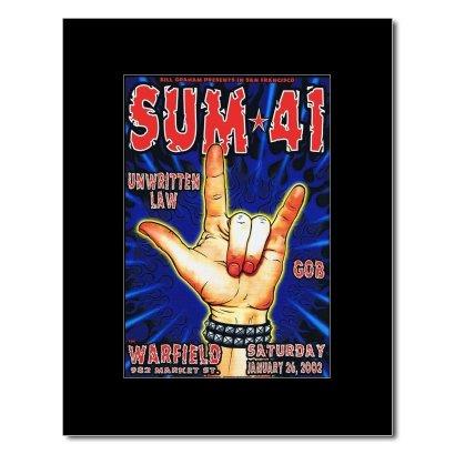 SUM 41 - San Francisco Ca 2002 Matted Mini Poster - 17.4x11.8cm -
