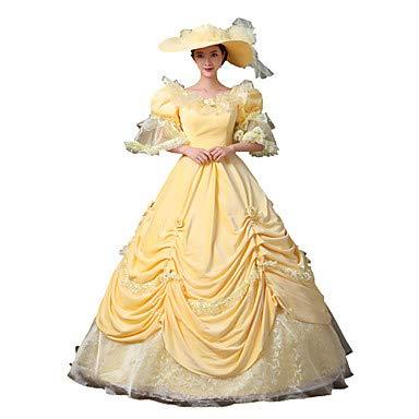 FGDJTYYJ Cosplay Kostüme Prinzessin Göttin Santa Anzüge Fest/Feiertage Halloween Kostüme Gelb einfarbig KleidHalloween Weihnachten Karneval, 10 * - Ziel Der Polizei Kostüm