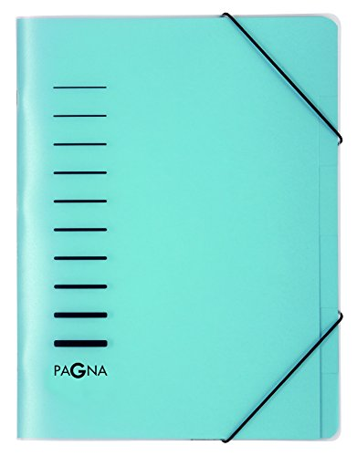 Pagna 40056-02 Ordnungsmappe 6-teilig aus PP, Eckspanngummi, blau farbiger Registerkarton