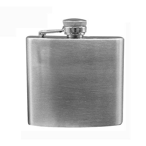 Minkoll Weinflasche Flaschen, Edelstahl 6oz Speichern Vodka Whiskey Alkohol Pocket Weinflasche