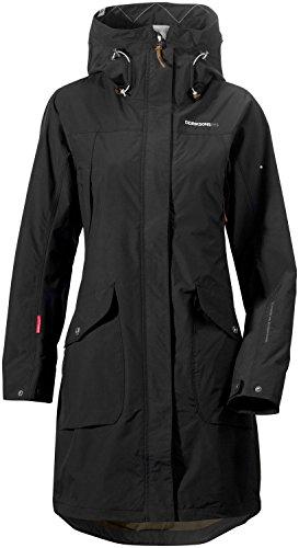 Didriksons Womens Thelma Waterproof Coat RRP £170 Black