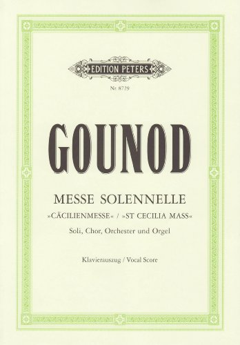 Messe Solenelle G-Dur (Cacilienmesse) Ka Chant