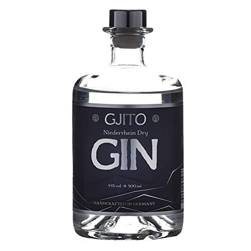 Gjito Niederrhein Dry Gin - GINEBRA perfecta y con un sabor suave para el agua tonica - embotellada manualmente (0,5 L, 44% VOL) Fiesta Cumpleaños
