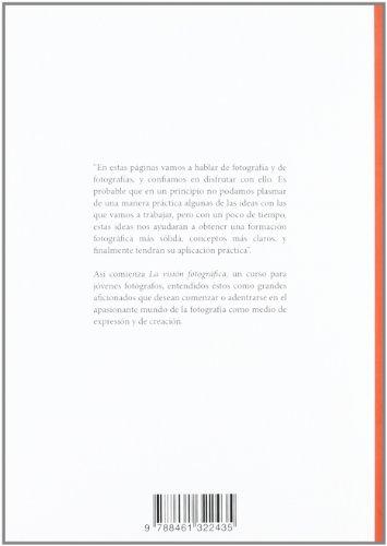 Copertina del libro Visión fotográfica. Curso de fotografía para jóvenes fotógrafos