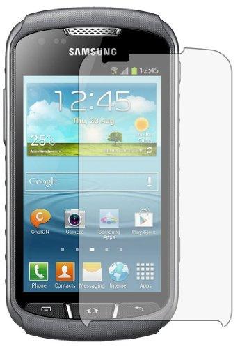3 x Membrane Displayschutzfolie Samsung S7710 Galaxy Xcover 2 II (GT-S7710 / S7710L) - Unsichtbar Schutzfolie, Verpackung und Zubehör