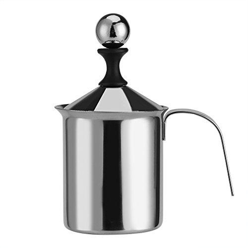 Espumador de leche 400 ML / 800 ML Manual de acero inoxidable Espumador de leche Malla doble Café Cappuccino Foamer Crema de espuma (tamaño : 800ML)