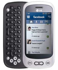 Handy LG Gt350 White Black QWERTY Tastatur Mit Branding Ohne Simlock