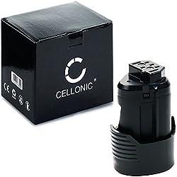 CELLONIC® Batterie (12V, 2Ah, Li-ION) Compatible avec AEG BBH 12, Omni 12C, BSS 12C, BSB 12 C2, BWS 12C, BTS12C - L1215, L1240, L1220, L1230 Batterie de Rechange, Accu Remplacement Outil