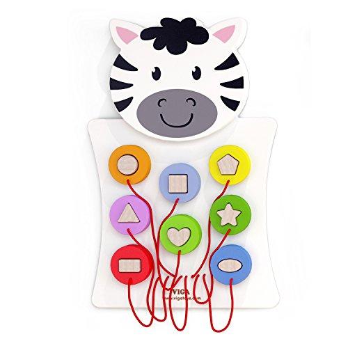 Eitech GmbH 50681 Viga Toys-Wandspiel-Zebra, Multi Color