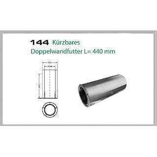 Wanddurchfuehrung kuerzbar für Schornsteinsets 150mm