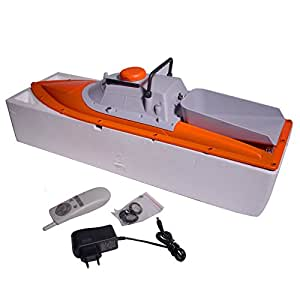 JABO RC Boot Futterboot - Köderboot - Baitboat – 1AL-10A Orange Grau