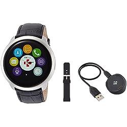 MyKronoz Zeround Premium - Reloj de actividad y sueño con notificaciones y pantalla táctil, color plata y negro