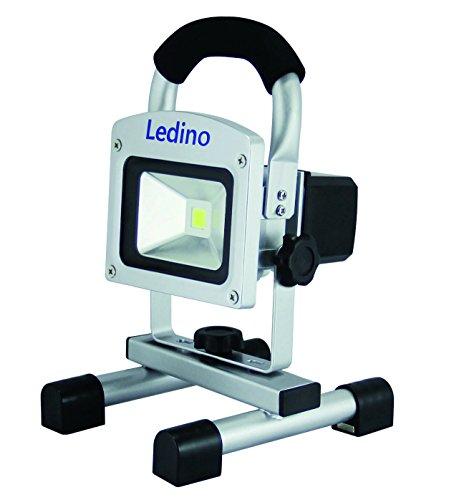 Ledino LED Akkustrahler 5W Li-Ion Akku 2.2Ah silber