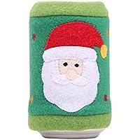 Pinji Funda Protectora para Botella de Vino Pequeña Lata de Bebida Decorativo para Fiesta de Navidad de Diseño de Papá Noel y Árbol de Navidad Divertido Creativo #1