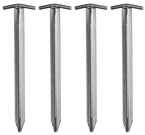 CampAir T-Profil Zelt-Heringe aus verzinktem Stahl, Extra lang 40 cm, Set mit 4 Stück
