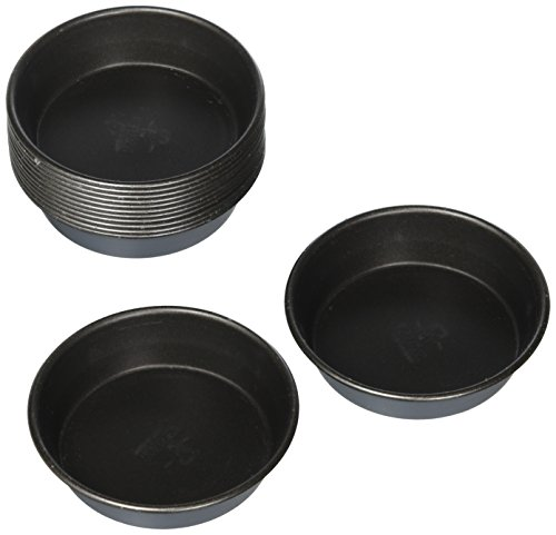 Matfer Cake/Quiche Mold, 2-3/4-by-11/16-Inch, 25-Pack Fluted Mold Pan