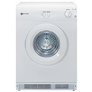 White Knight WK44AW Reverse Vented Tumble Dryer, 6kg capacity, White