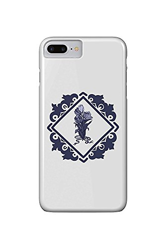 Delft Tulips and Border (iPhone 7 Plus Cell Phone Case, Slim Barely There) - Delft Tulips