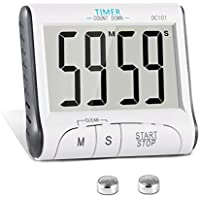 KOATECH Digitaler Küchentimer Magnetisch Kurzzeitmesser Küche 24H Countdown Timer Elektronischer Zeitschaltuhr und Stoppuhr Schallendem Alarm mit Großem LCD Display