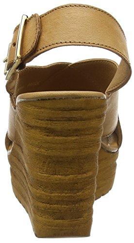 Moda in Pelle Paride, Sandales Compensées femme Marron - Marron (clair)