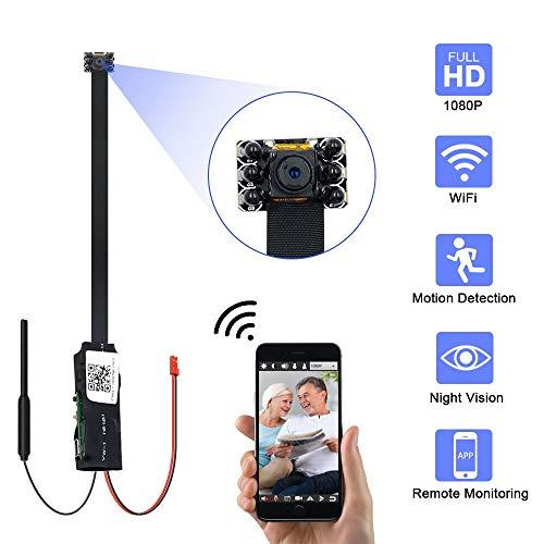 Mini Kamera, UYIKOO HD 1080P WiFi Kamera mit Bewegungserkennung tragbare Überwachungskameras unterstützen Nachtsicht für iPhone/Android-Fernansicht