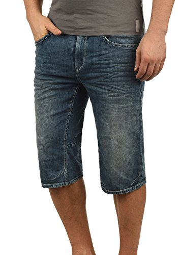 Blend Denon Herren Jeans Shorts Kurze Denim Hose Aus Stretch-Material Regular Fit, Größe:XL, Farbe:Denim middleblue (76201)