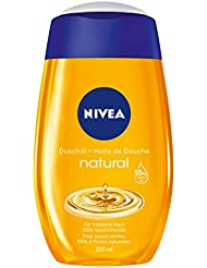 Nivea Natural Duschöl Duschgel (mit 55% Ölen), 2er Pack (2x 200 ml)