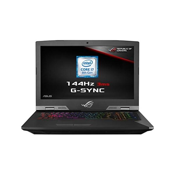Asus 17.3-Inch LED Laptop – (Black) (Intel Core i7 8750H 2.2 GHz, 32 GB RAM, 1 TB Hybrid HDD with 524 GB SDD, NVIDIA GeForce GTX1070, Windows 10) 413TZFaahlL