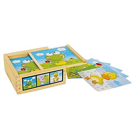 Legler - 2019633 - Puzzle En Bois - Cubes Animaux Amis
