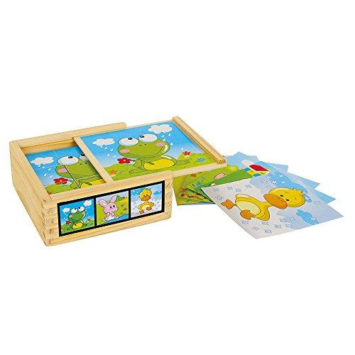 Legler - Puzzle de cubos con diseño amigos animales, de madera (3468.0)