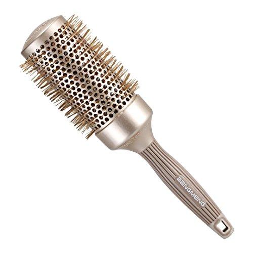 BANGMENG Round Barrel Antistatische Haarbürste | Nano Thermal Keramik Ionic Tech | Schützen Sie Haar, verbessern Sie Beschaffenheit, für das Richten, das Stylen u. Das Trocknen (2inch)