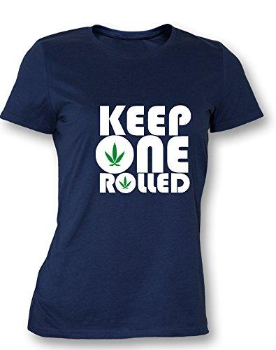 Keep one Rolled - Damen T Shirt Navy / Bunt