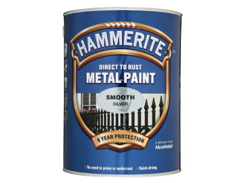Hammerite 5084898 Direct to Rust Metal Paint 5 L - Smooth Silver