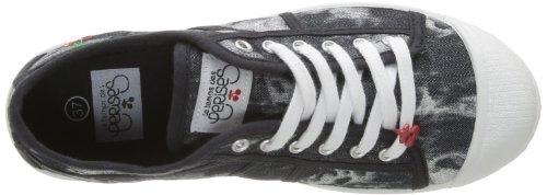 Le Temps des Cerises Basic 02, Damen Sneaker Blau (Tie&Dye Black Jean)