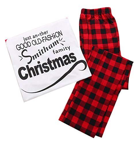 (Keephen Weihnachten Familie Passenden Pyjama Set Klassischen Brief Gedruckt Plaid Homewear Eltern-Kind-nachtwäsche)