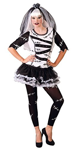 Karneval Klamotten Monster-Braut Zombie-Braut Kostüm Damen Halloween Horror Damenkostüm ONE (Damen Kostüme Erwachsene Braut Monster)