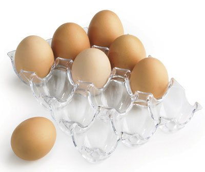 12 Egg Crystal Clear Plastic Egg Storage Tray by Kitchen and Home Crystal Tray