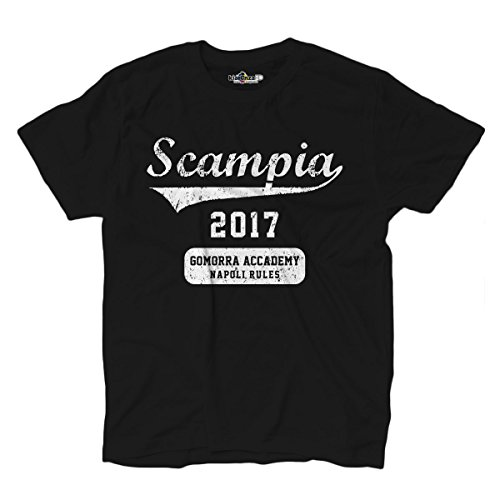 KiarenzaFD T Shirt Serie TV scampia 2017 Gomorrha Accademy Napoli Rules 1 Shirts, Black Opal, Large